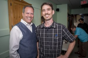 MP Darren FIsher and Dartmouth Candidate Ned Milburn